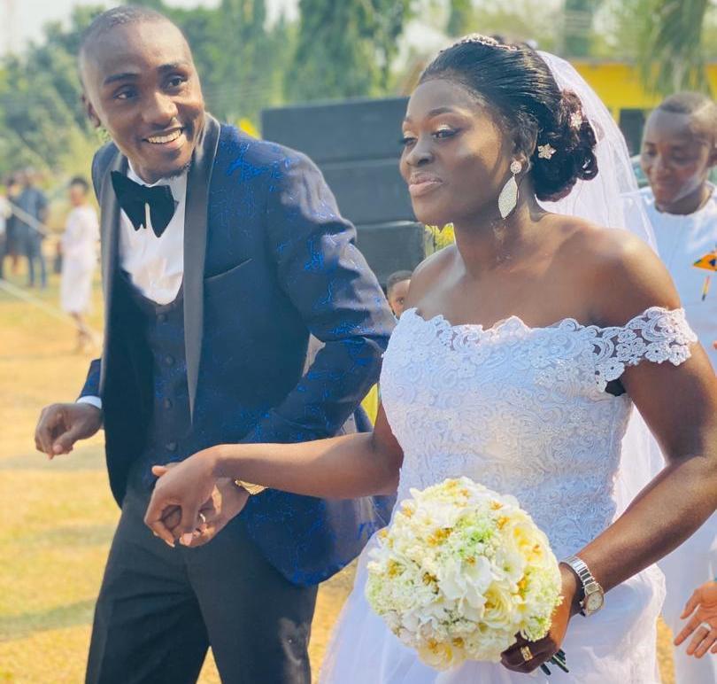 Black Queens goalkeeper and police officer Fafali Dumehasi marries