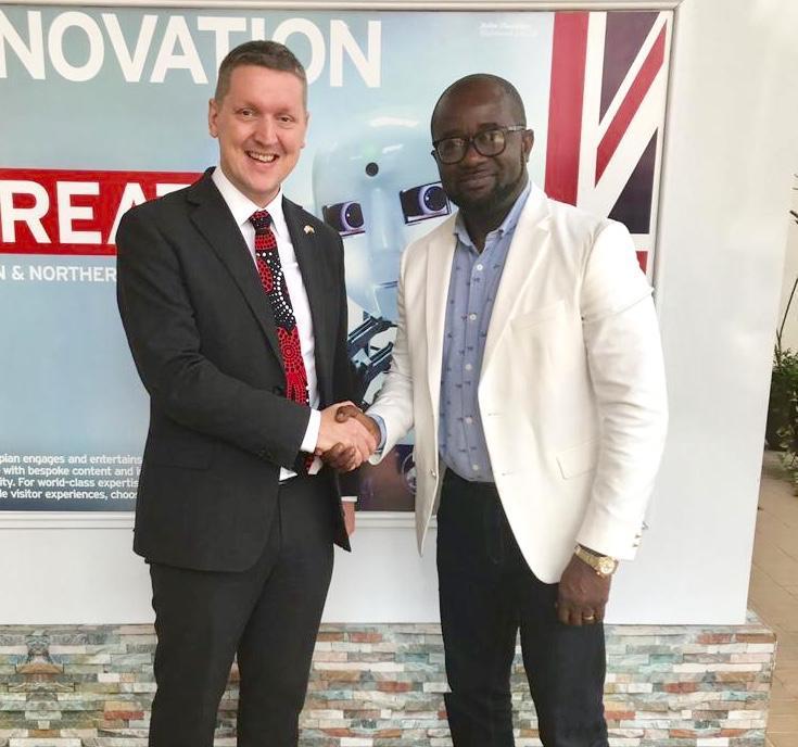Ghana FA boss Okraku holds positive talks with UK High Commissioner Iain Walker