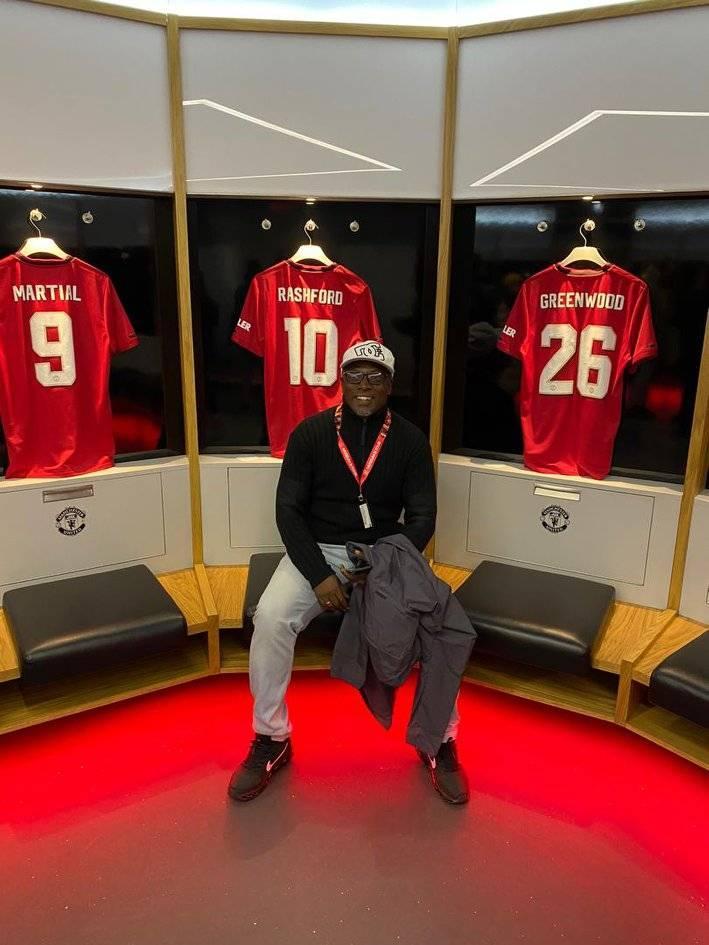 PHOTOS: Former Ghana U-20 coach Yaw Preko tours Old Tafford