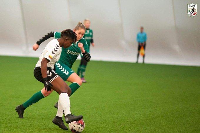 Princella Okyere provides three assists on FC Gintra Universitetas debut