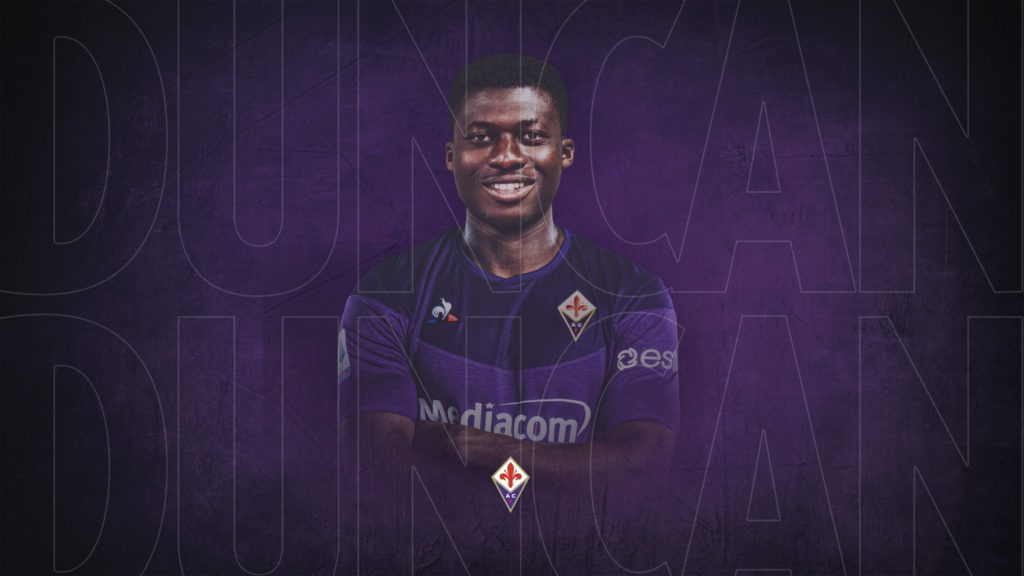 Alfred Duncan to join group training next week at Fiorentina