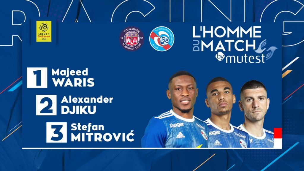 Majeed Waris voted Man of the Match in Strasbourg's win over Toulouse