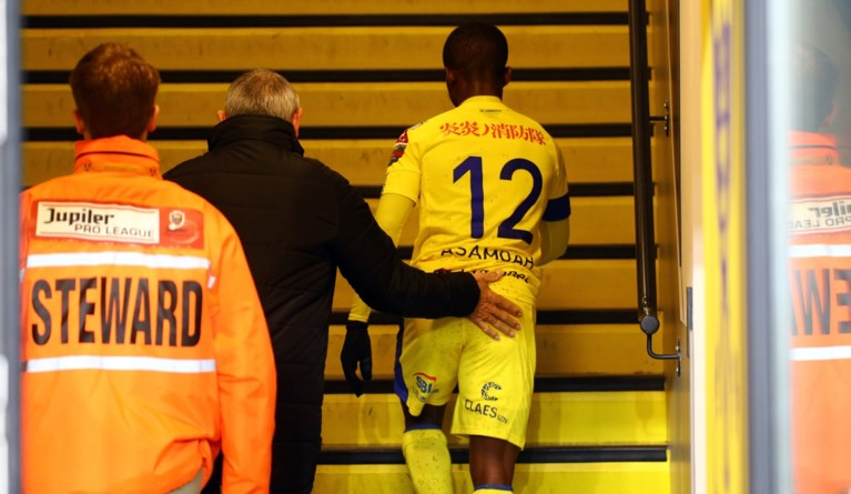 VIDEO: Watch how Samuel Asamoah netted hat-trick and sent off in Sint Truiden victory against Eupen
