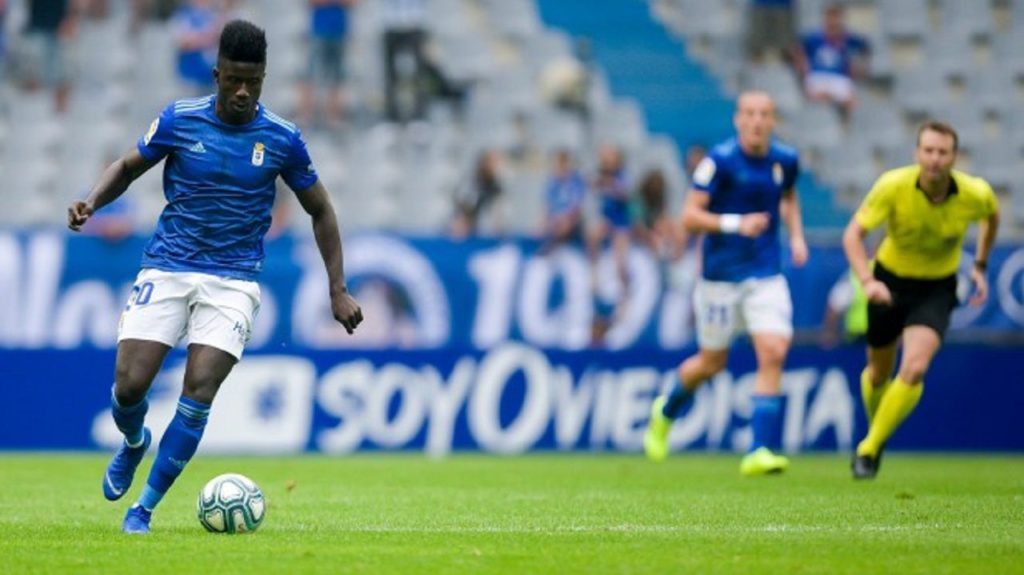 Ghanaian striker Samuel Obeng calm over bench warming role at Spanish side Real Oviedo