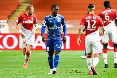 VIDEO: Ghana striker Waris scores his first Strasbourg goal, climbs off bench to grab late winner