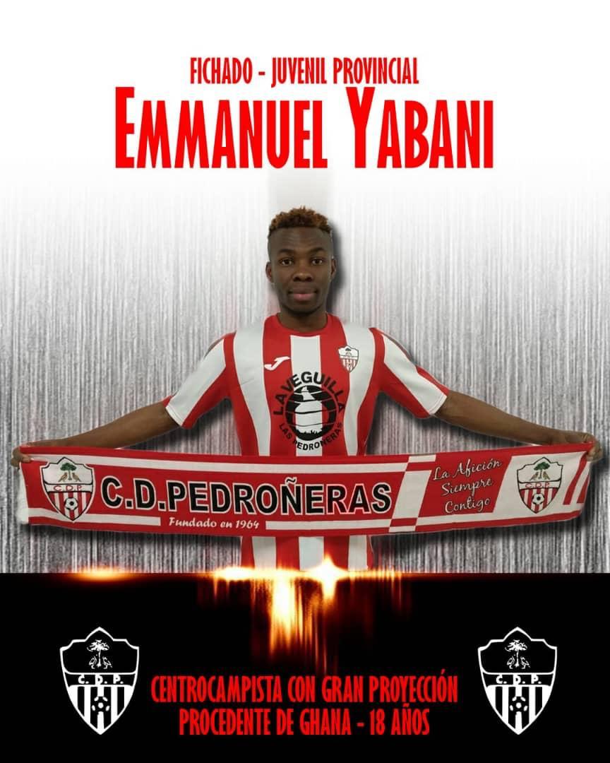 Ghanaian midfielder Emmanuel Yabani joins Spanish side Pedroneras