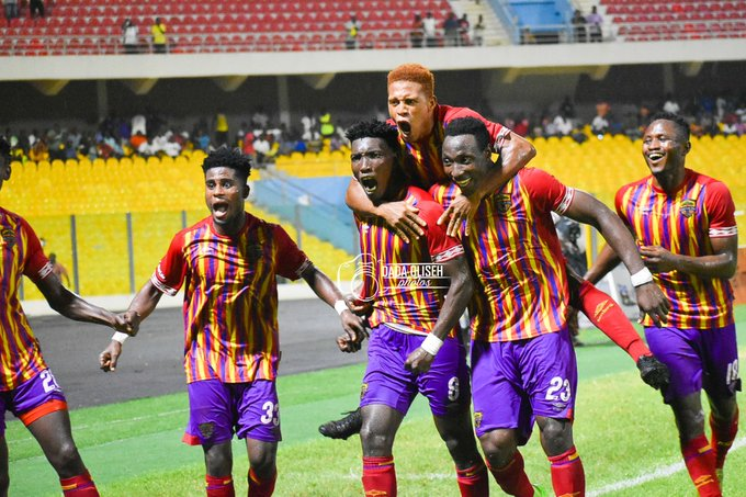 Accra Derby: Accra Hearts Of Oak lashed their city rivals Accra Great Olympics 4-0 at the Accra Sports Stadium.