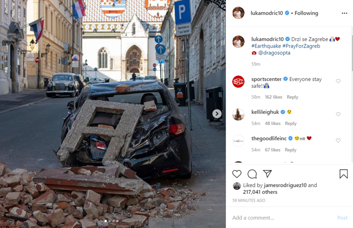Pray For Zagreb Modric Deeply Concerned As Croatia Capital Hit By Earthquake Ghana Latest Football News Live Scores Results Ghanasoccernet