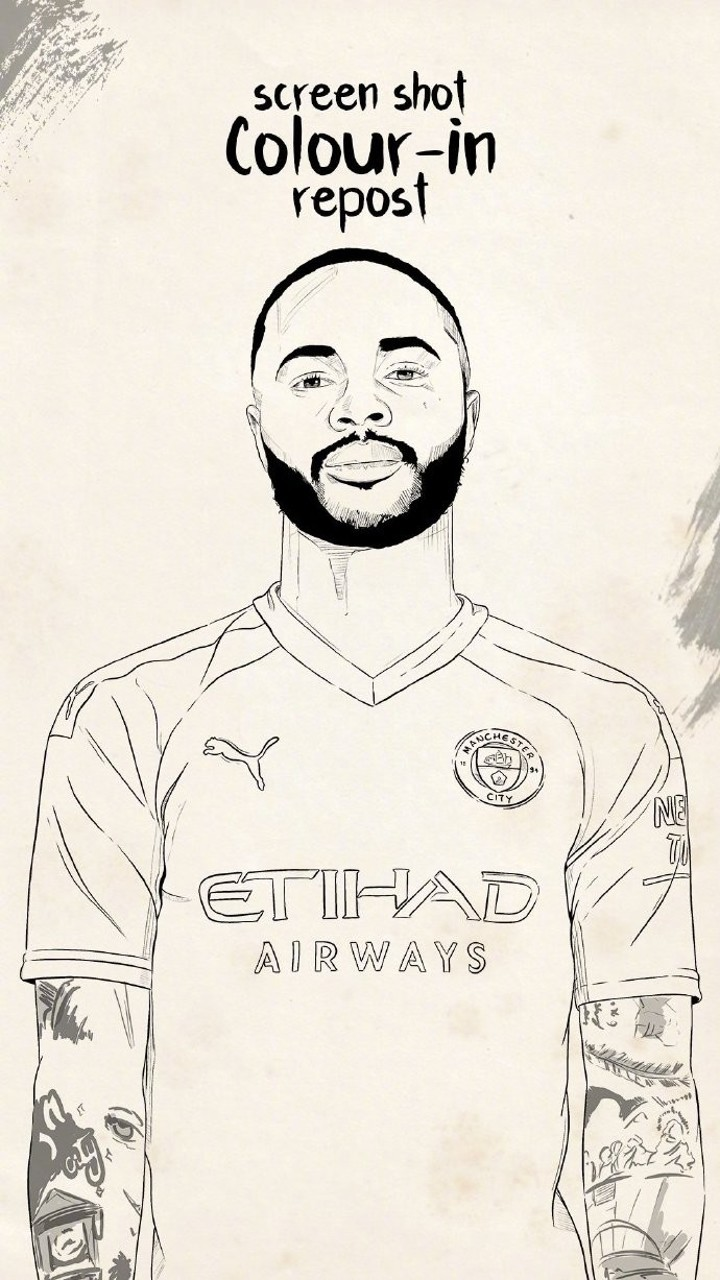 City Colour-In Ep1: Show your imagination & creativity with this Raheem Sterling