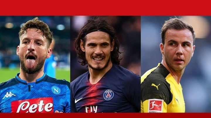 Sky's European out-of-contract XI: Cavani & Mertens in attack, Gotze included