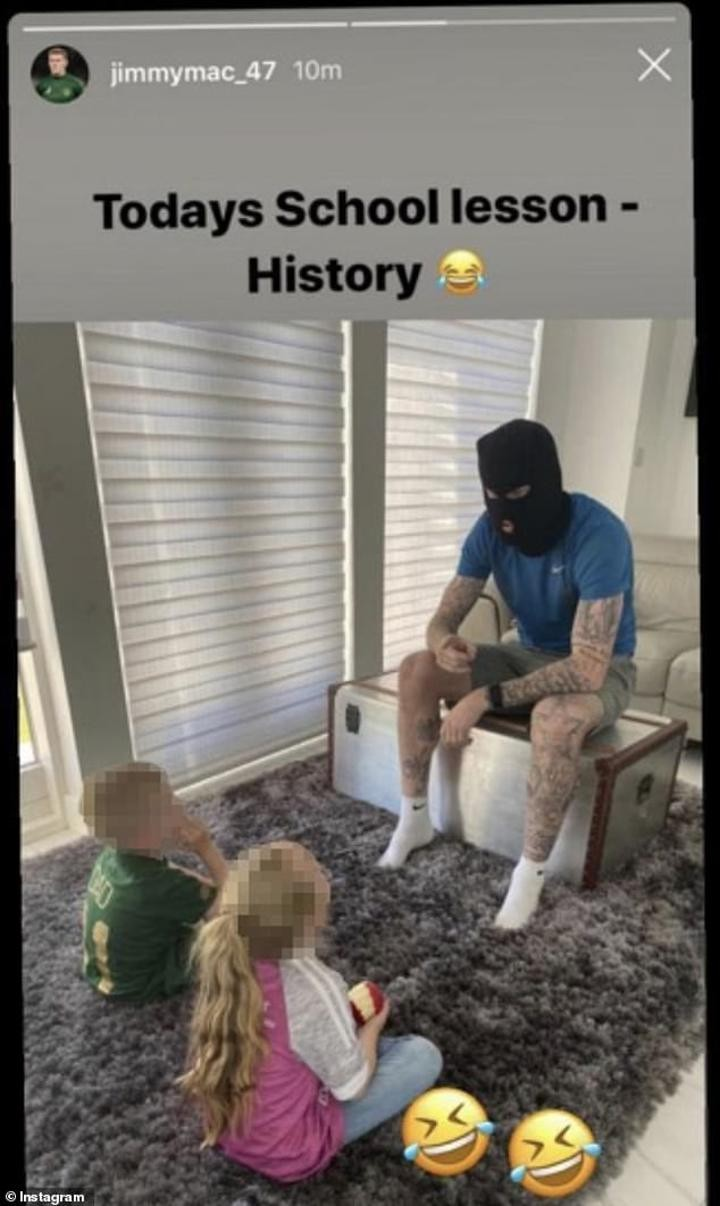 Ireland international faces dressing down after posting pic dressed in balaclava