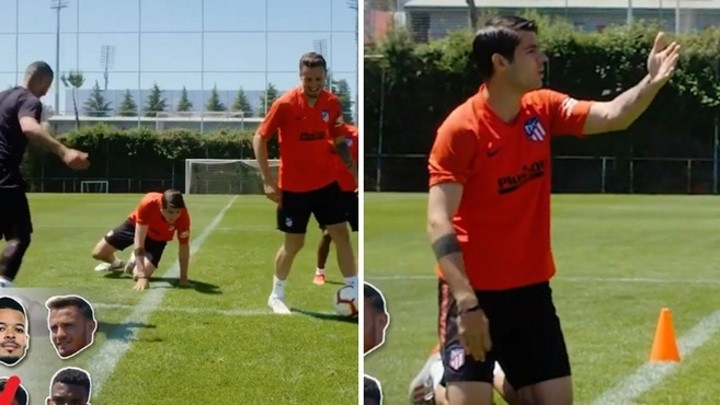 Morata loses out to a freestyler just two seconds into a challenge 🎥