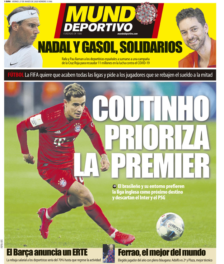 Coutinho & agent prefer returning to PL & rules out Inter & PSG (MD)