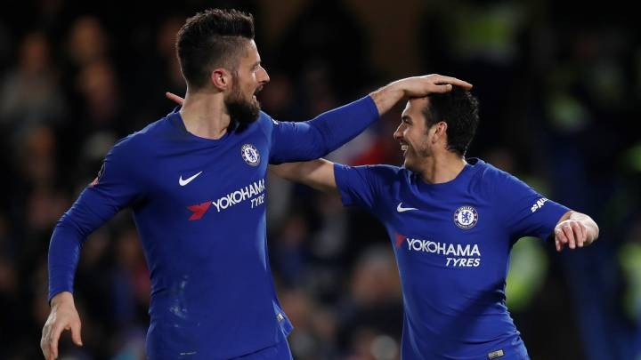 Lazio 'set sights on Chelsea's free agents Pedro and Giroud'