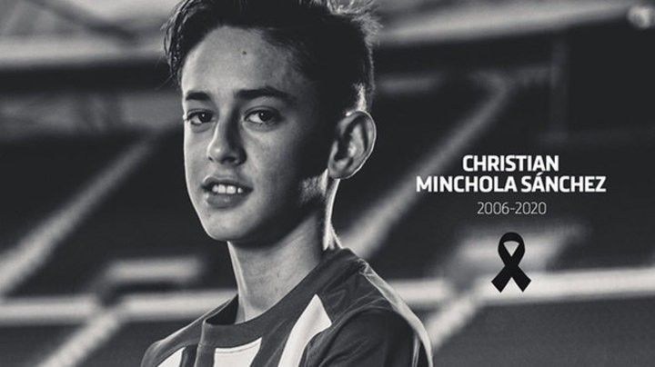 Atletico Madrid mourn the death of youth player Christian Minchola