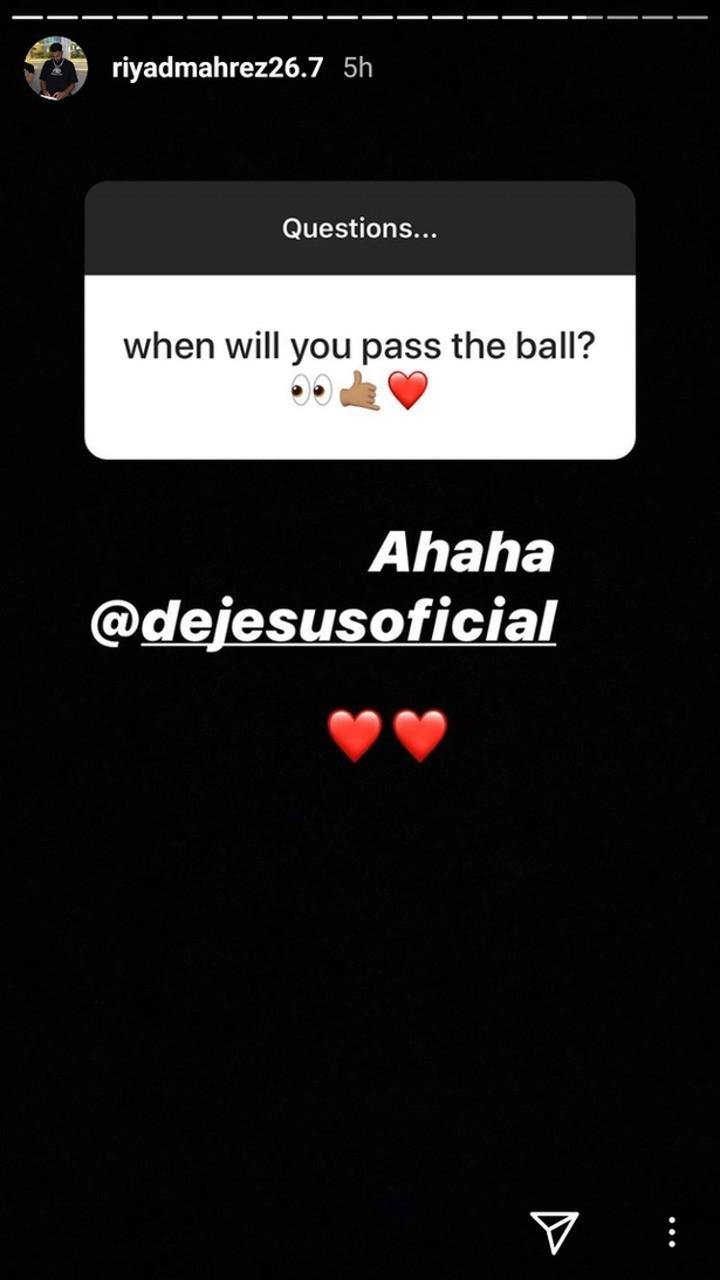'When will you pass the ball?' - Jesus trolls Mahrez on Instagram