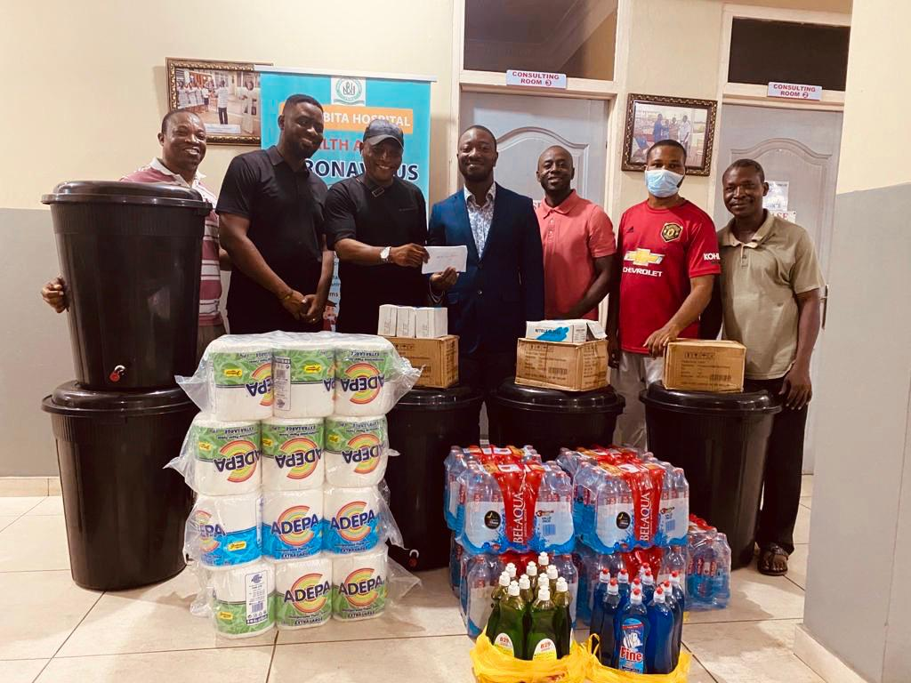 Ghana winger Nana Ampomah donates to Narh-Bita Hospital to aid fight against Coronavirus