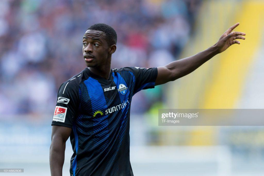 Christopher Antwi-Adjei's plays full throttle for Paderborn against Hoffenheim in Bundesliga