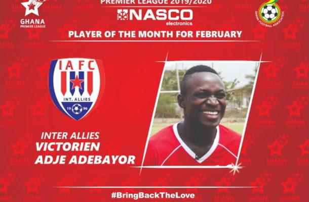 Victorien Adebayor: Inter Allies star wins Ghana Premier League Player of the Month