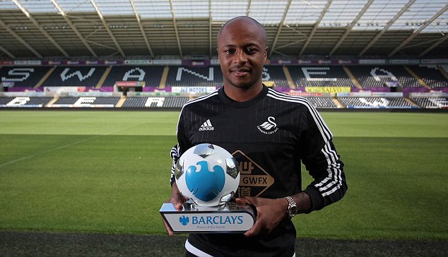 Andre Ayew on exclusive list of 12 players to win English Premier League award in first month
