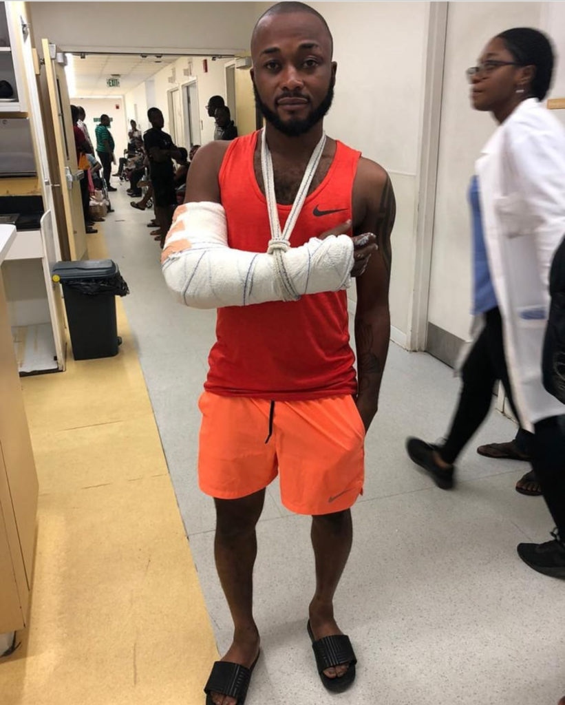 Great Olympics captain Gladson Awako set for short spell on the sidelines after sustaining arm injury