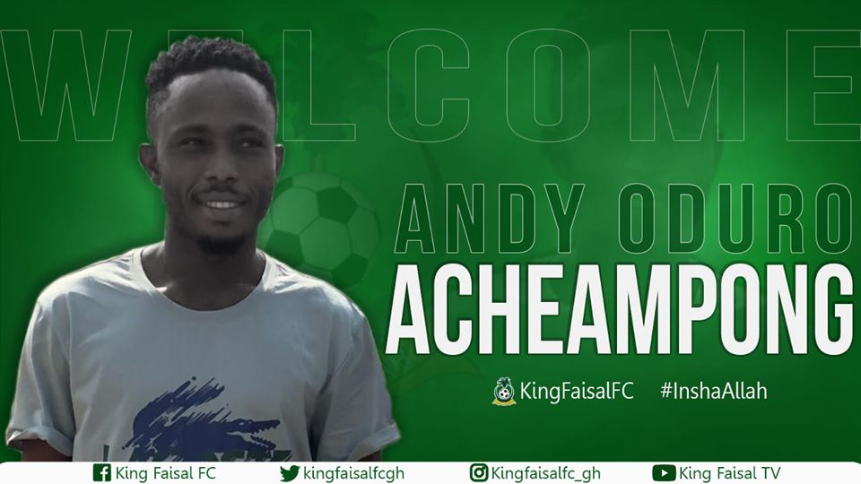 King Faisal sign versatile 'game-changer' Andy Oduro Acheampong