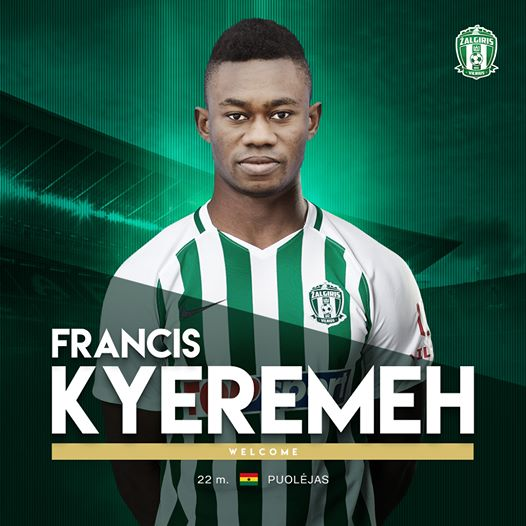 EXCLUSIVE: Ghanaian midfielder Francis Kyeremeh completes move to Lithuanian side Vilnius Žalgiris
