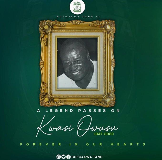 Bofoakwa pay moving tribute to 'loyal' former Ghana captain Kwesi Owusu