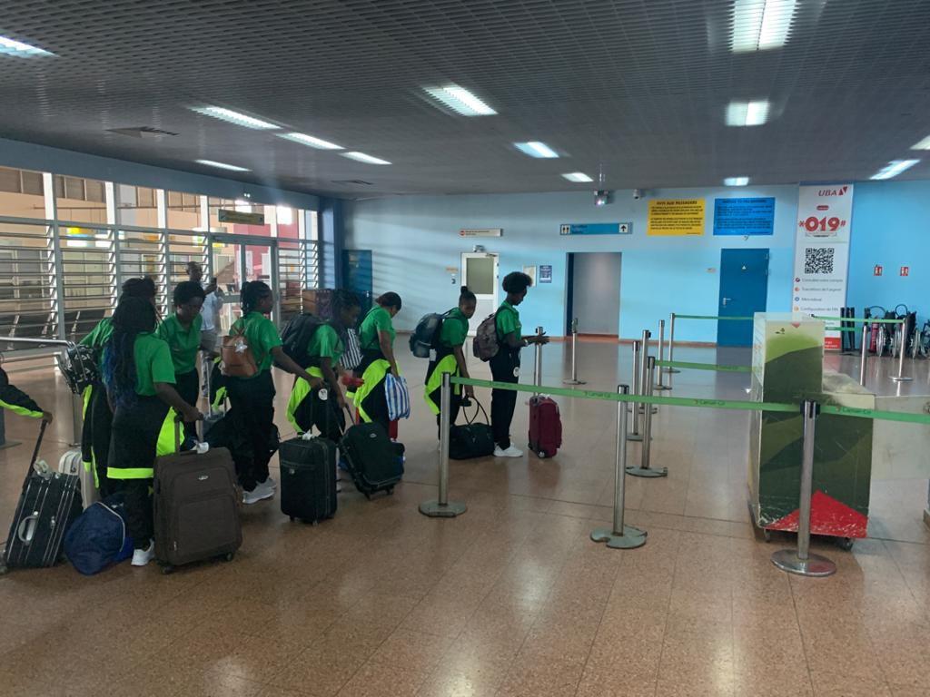 Saoi Tome and Principe girls leaving Cameroon on Saturday