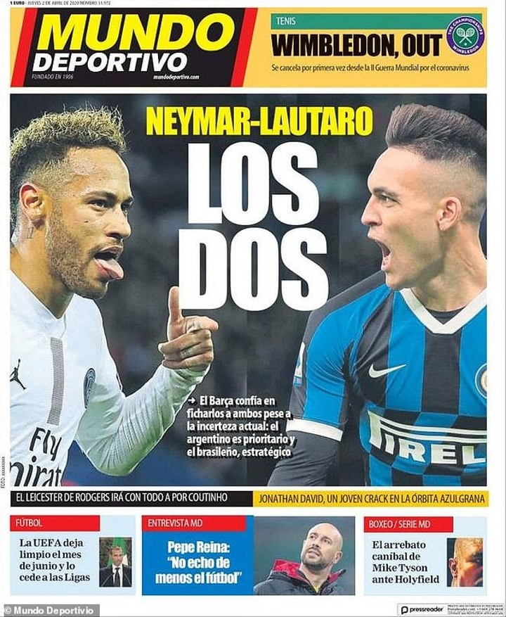 Barca CAN land both Lautaro & Neymar as Griez, Coutinho & Dembele to leave (MD)