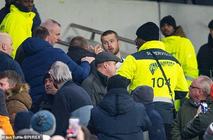 Dier escapes rap for confrontation with fan in the stands after police end probe