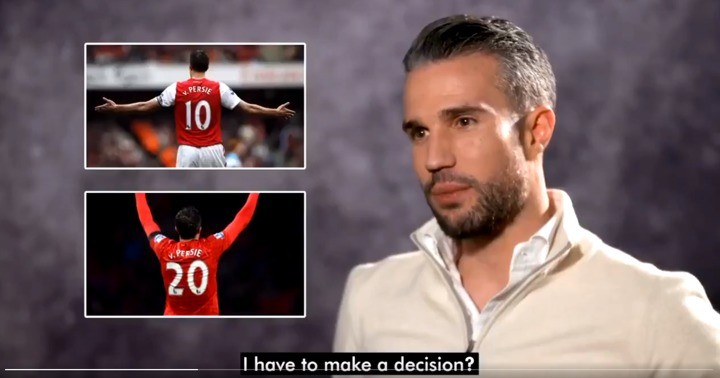 Van Persie explains why Man Utd shirt number was more special than at Arsenal