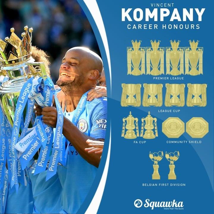 A 4 times Premier League winning captain! Happy 34th birthday to Kompany 🎂