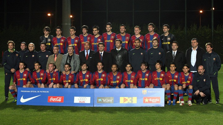 Where are the Barca B players who won promotion under Guardiola in 2007/08?