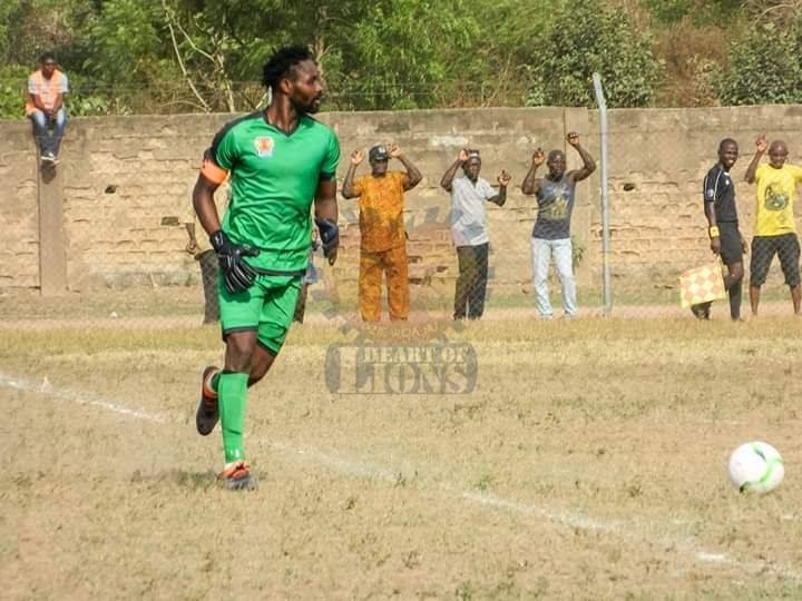 In-form Gabriel Nudakpa, The Safest Pair Of Hands for Kpando Hearts Of Lions FC in the Division One League.