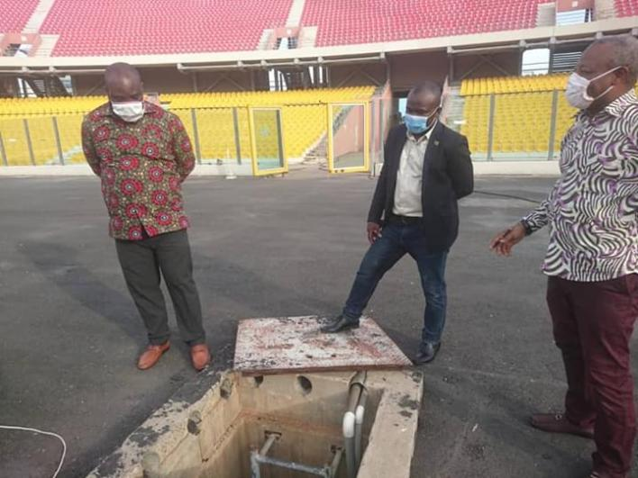 PHOTOS: Sports Minister Isaac Asiamah inspects Accra Sports Stadium