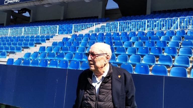 Malaga's groundskeeper, who lives at the stadium, is hopeful that soccer soon returns to his unique home