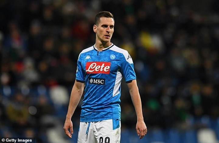 Napoli 'will demand Atletico Madrid pay £35m and exchange Diego Costa for Arkadiusz Milik'
