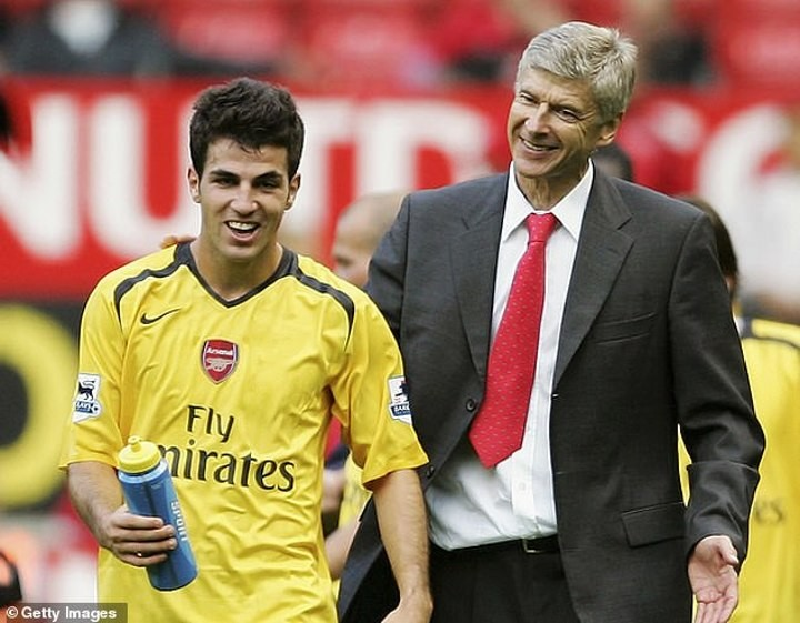 Fabregas reveals Wenger cut short holiday to convince him to sign for Arsenal
