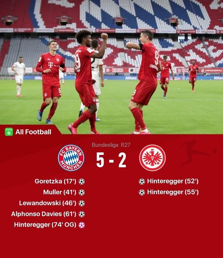 Bayern 5-2 Frankfurt: Lewy, Muller & co enjoy 7-goal feast before BVB showdown
