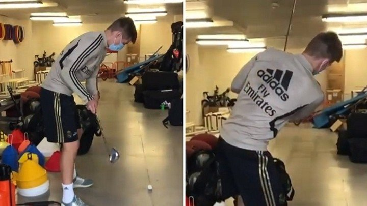 Kroos' disaster with a golf club