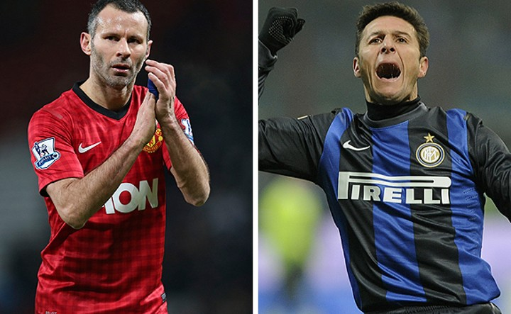 'He broke my nose' - Giggs proclaims Inter stalwart Zanetti as toughest opponent