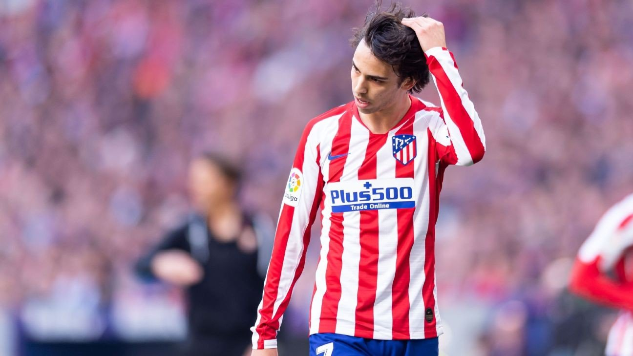 Atletico Madrid's Joao Felix sprains knee, not expected to miss matches