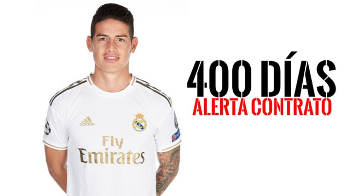 James Rodriguez's Real Madrid contract runs into its final 400 days