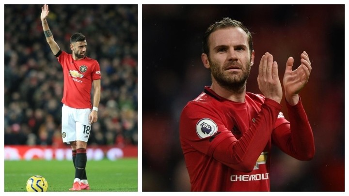 Bruno Fernandes: I would isolate with Juan Mata