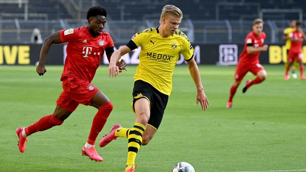 Bayern Munich's Davies tops 21 mph chasing down Dortmund's Haaland