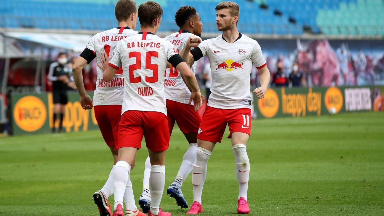 Ten-man RB Leipzig held to 2-2 home draw by Hertha Berlin