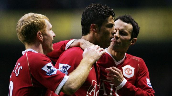 Ronaldo and Scholes in Solskjaer's dream six-a-side team