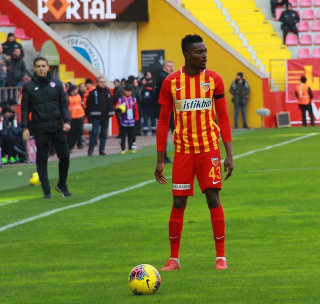 Bernard Mensah red carded as Kayserispor rally to snatch to late draw at home