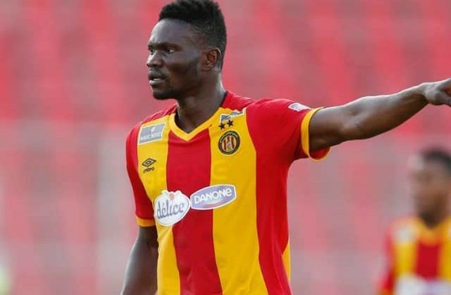 Esperance midfielder Kwame Bonsu could be affected by new Tunisia FA law